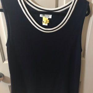 Sleeveless Navy sweater vest XL